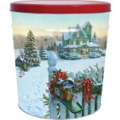 Christmas Mail Popcorn Tin