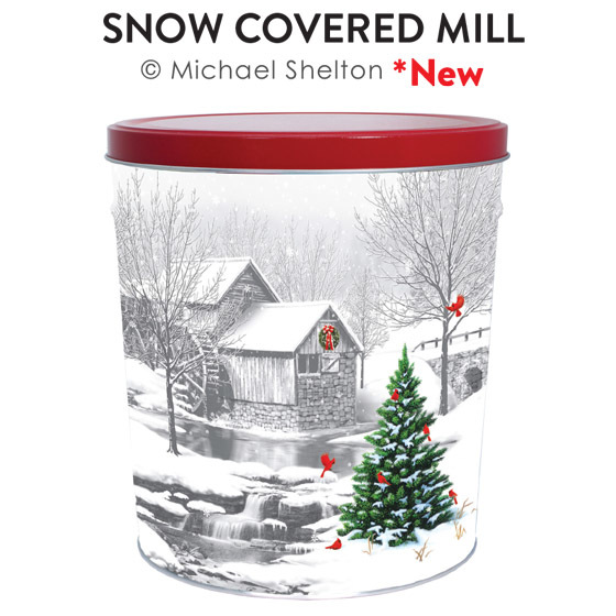 Snow Covered Mill Tin
