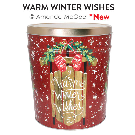 Warm Wishes Popcorn Tin